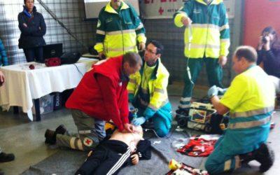 Onder de indruk van Rode Kruis vrijwilligers