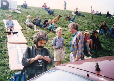 Interview met het NOS Jeugdjournaal tijdens de 28-uurs blokkade van de kerncentrale Borssele, mei 1987