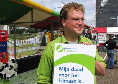 Campagne van de milieufederatie rond Klimaatneutraal Flevoland op 07-07-2007