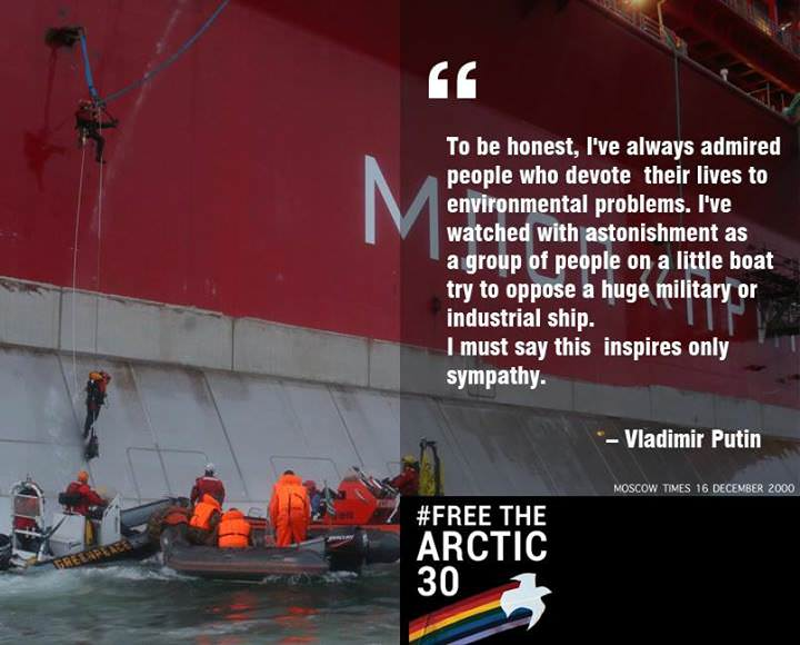 Putin over Greenpeace