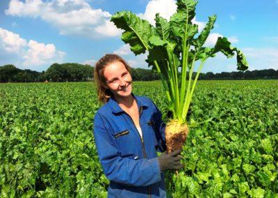 Iris Bouwers in haar bietenveld