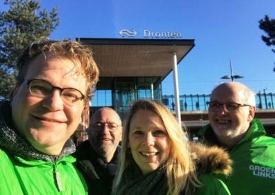 GroenLinks Dronten fractie op campagne.